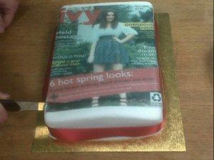 magazine cake